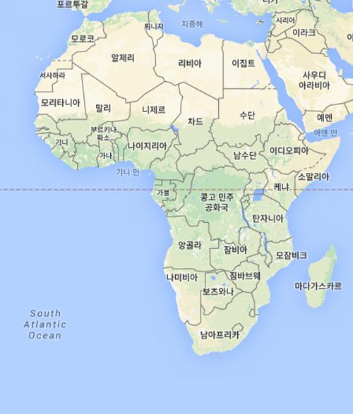 (아프리카 지도, 사진=구글지도)
